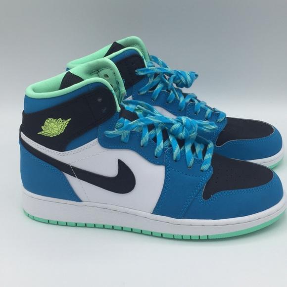 Nike Air Jordan Retro High Bg Teal Blue